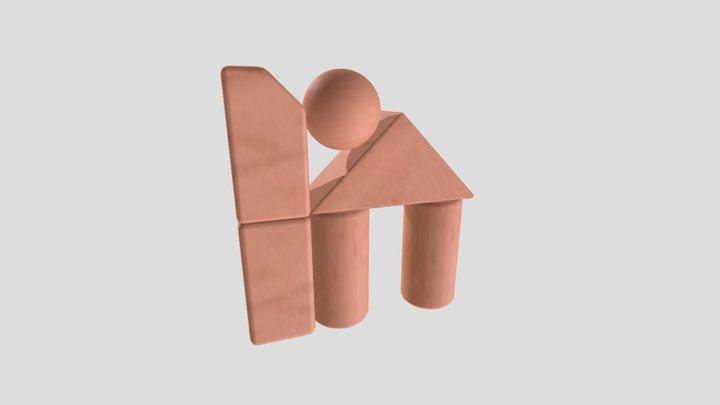 Wk6b Beveled Blocks 3D Model