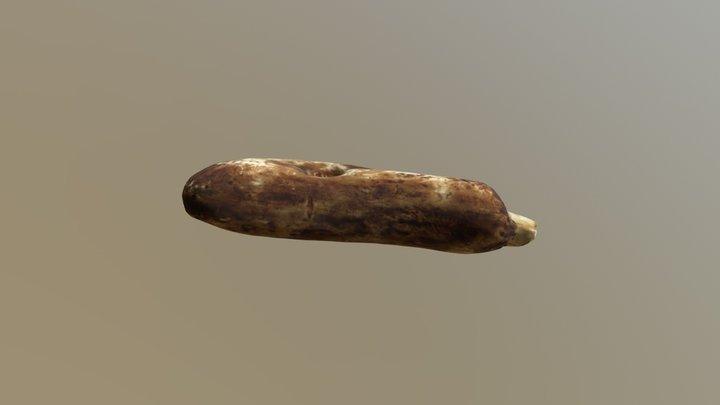 Mesolithic Bone and Antler Chisel 3D Model