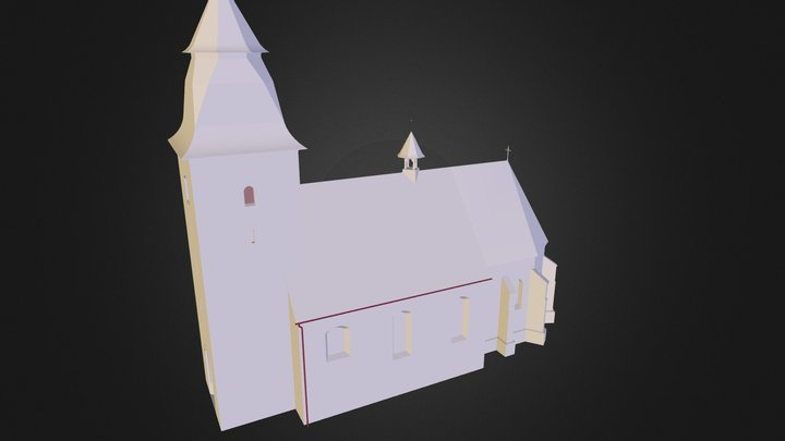 Kostel_Cihost 3D Model