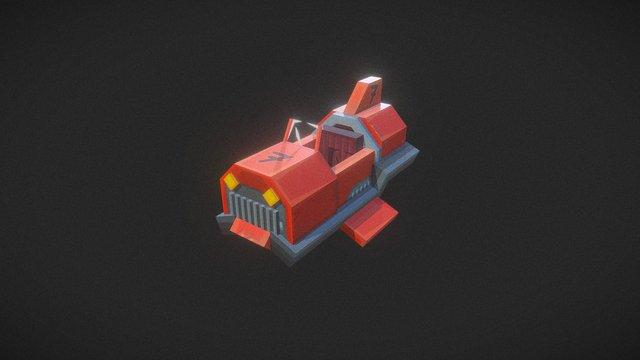 Kart red - Hypixel Turbo Kart Racers Game 3D Model
