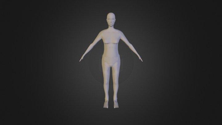 Sketchfab Female Mesh Export 3D Model