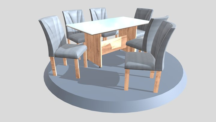 Mesa Verona 6C 1600x900 3D Model