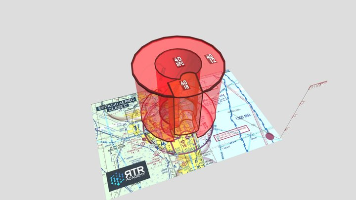 Espacio Aéreo Clase C - RTR Academy RPAs 3D Model