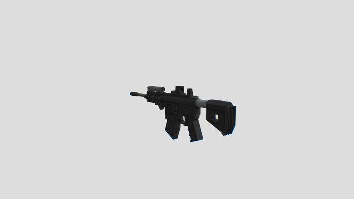 HK416 - Blockbench Model (OLD) 3D Model