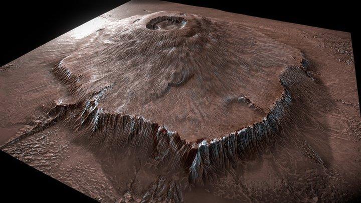Mars - Olympus Mons 3D Model