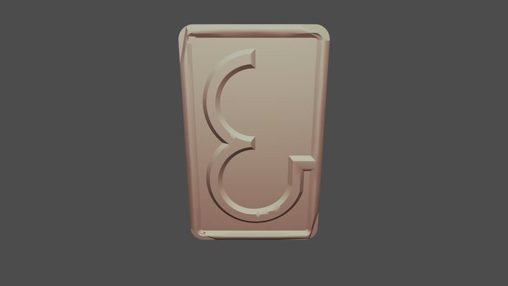 ampersand w/ added taper 3D Model