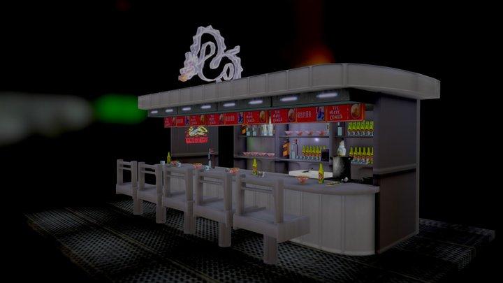 White Dragon Noodle Bar Blade Runner 3D Model