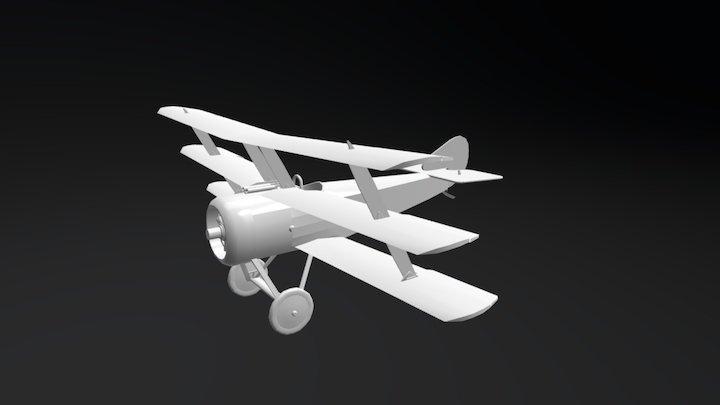 Sopwith Triplane - First World War Airplane 3D Model
