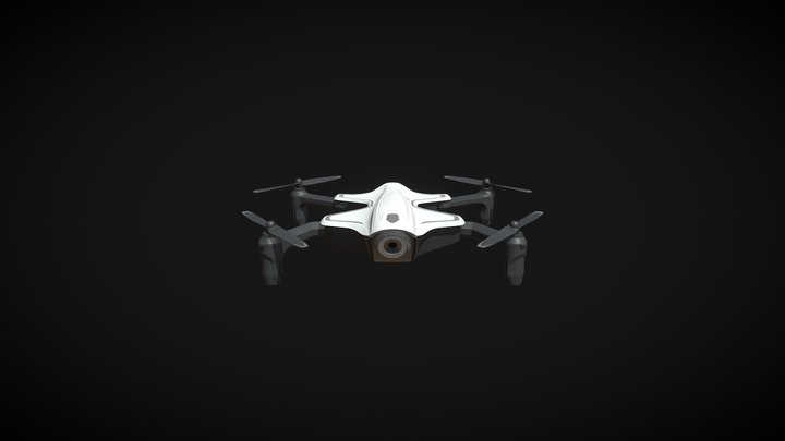 Drone with front camera 3D Model