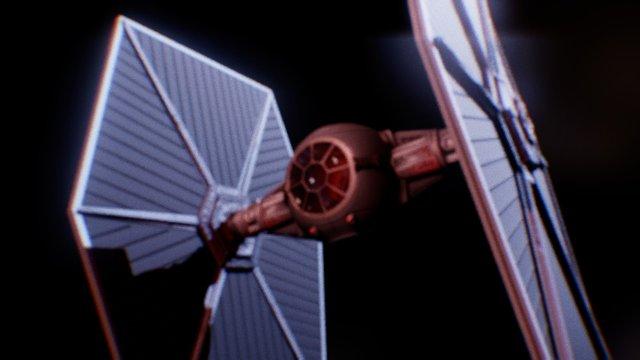 3D T.I.E Fighter - Star Wars model 3D Model