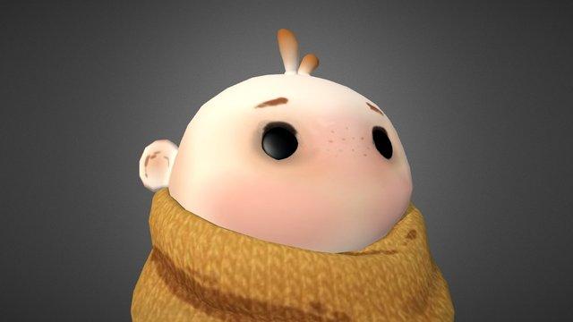Cute Kid 3D Model