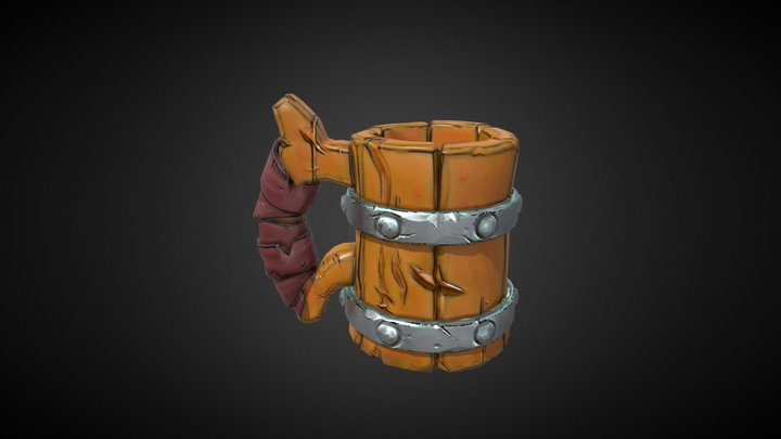 Comic-Style Mug 3D Model