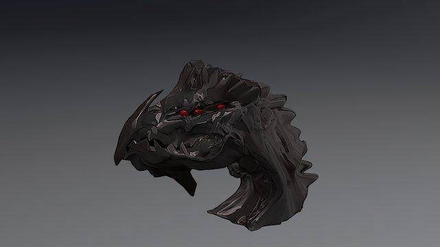 Dragon Head #2 (final Finish) 3D Model