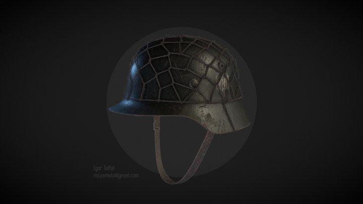 German WW2 Helmet Stahlhelm 3D Model
