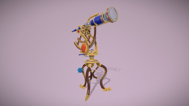 Telescope (Stylized) 3D Model