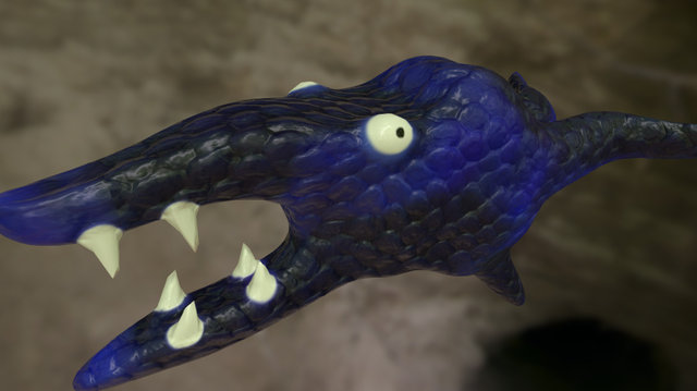 Monster Thing Material Test 3D Model