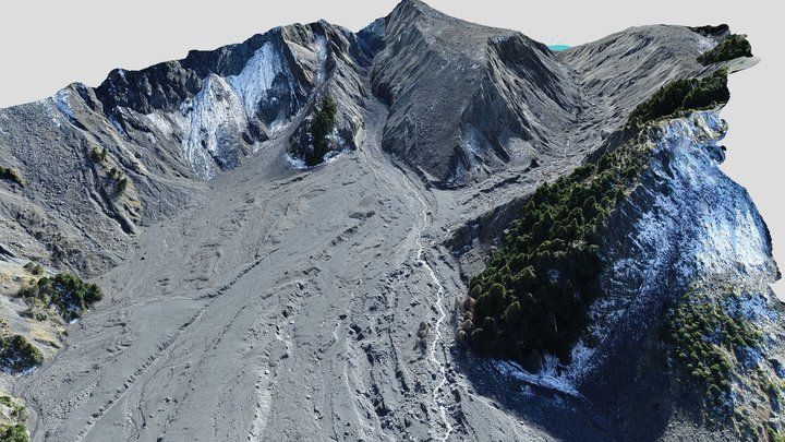 Hapuku landslide dam 3D Model