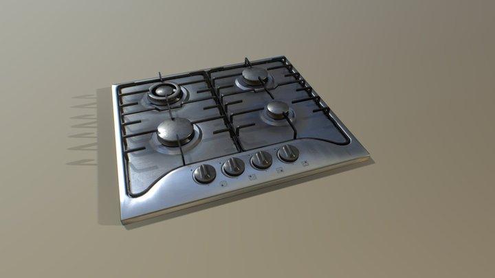 Kitchen Cooktop 3D Model
