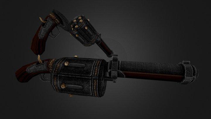 Coven Revolver Shotgun 3D Model