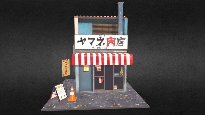 Japanese Store Front 3D Model