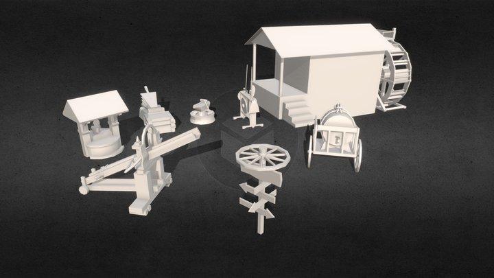 (HW XYZ School) Blocking 3D Model