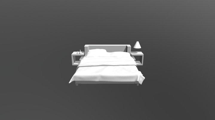 King size bed 3d model 3D Model
