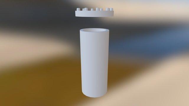 Prop Pipe Straight Top Inside Long 3D Model
