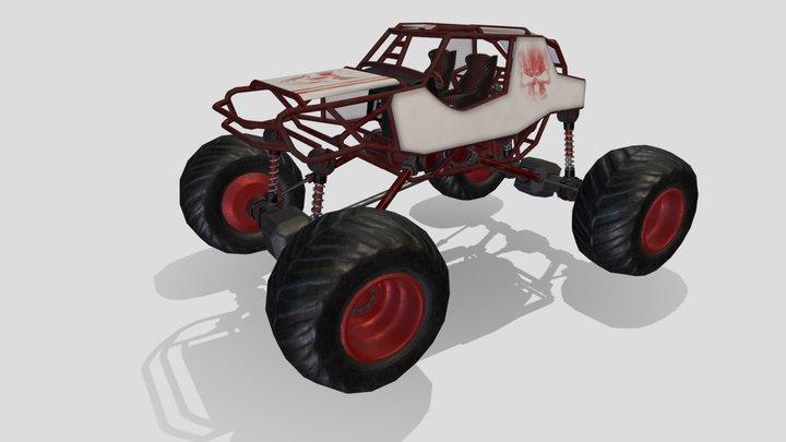 Red Monster Truck 3D Model