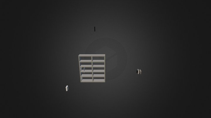 Bookcase 3D-013 3D Model