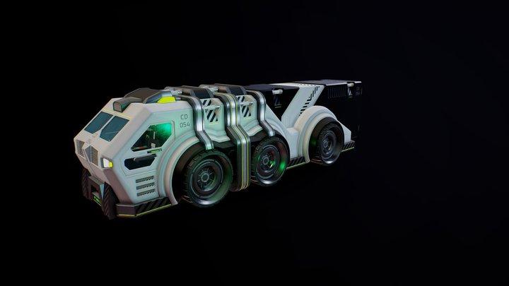SciFi Heavy Transport 3D Model