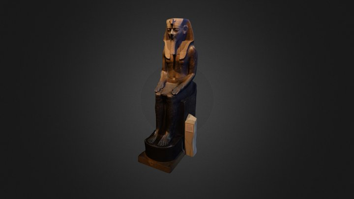 Seated statue of Amenhotep III 3D Model