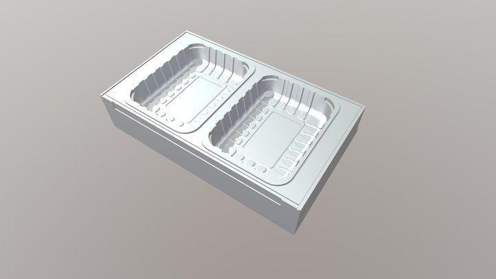 Molde Multivac Charola 20x15cm 3D Model