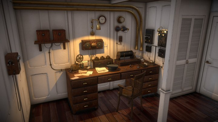 Titanic's Marconi VR Room 3D Model