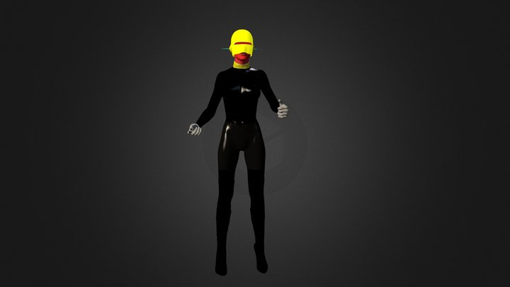 Cyberia Space Cyberwoman 3D Model