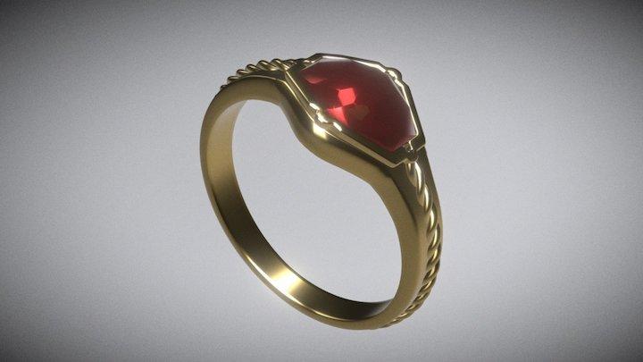 Narya, Gandalf's ring 3D Model