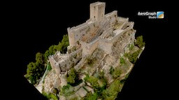 Castle of Almansa, Albacete, Spain 3D Model