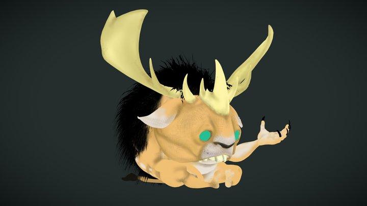 """CreatureBox - """"buckbunny"""" 3D Model"""