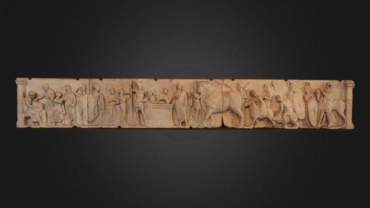 Relief de Domitius Ahenobarbus 3D Model