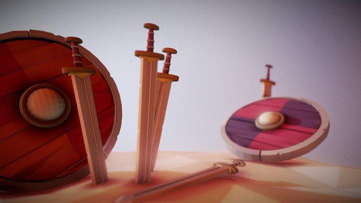 Espada Vikinga 3D Model