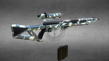 Sniper Rifle for project PANTROPY 3D Model