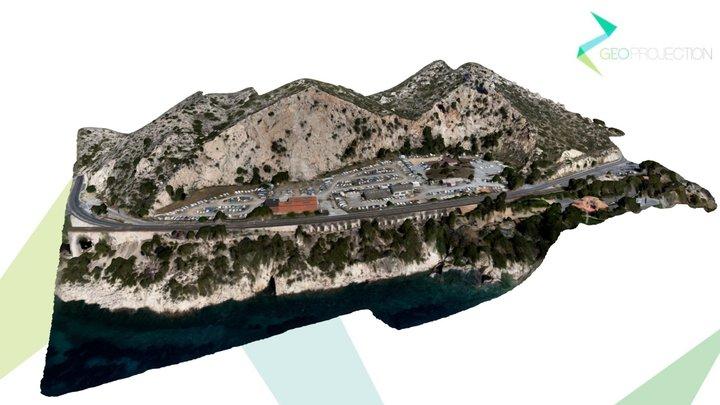 Modélisation Falaise - L'Estaque juin 2018 3D Model