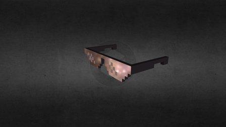 Pixel Art/Voxel Art (Deal With It Glasses) 3D Model