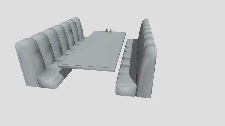 Sofa Cafe Baking 3D Model