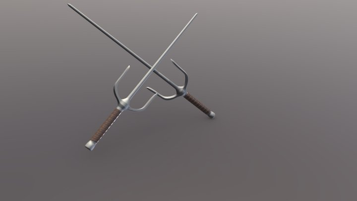 Twin Sai 3D Model