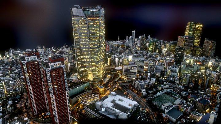 Osaka downtown 3D Model