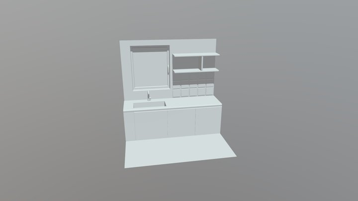 WIP Kitchen without props 3D Model