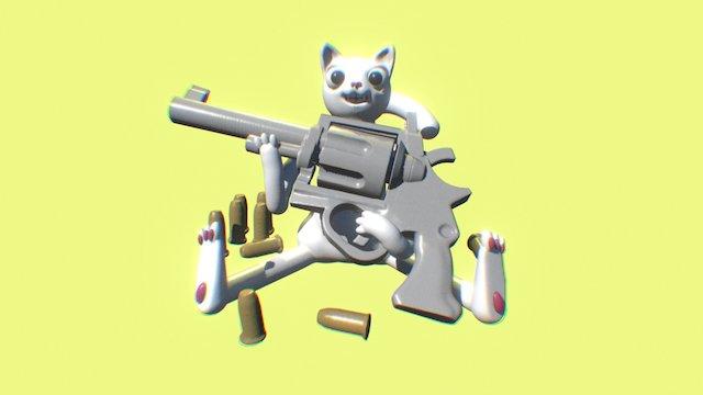 Gun Cat 3D Model