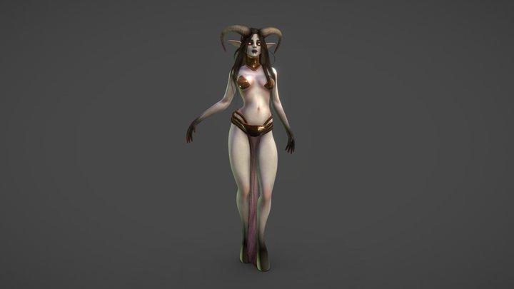 Demon Priestess 3D Model