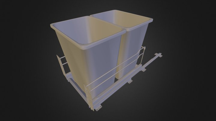 Double Pull-out Waste Basket 3D Model