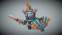 Li'l Warrior 3D Model